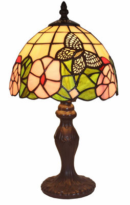 15 Inch Tiffany Style Floral Mini Table Lamp 15 In