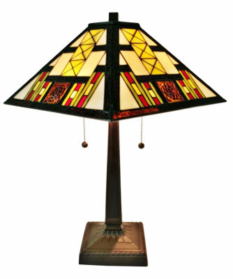 21 In High Tiffany Style Mission Table Lamp