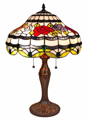 24 Inch Tiffany Style Roses Table Lamp - Tiffany Style Table Lamps | Stained Glass Table Lamps | Tiffany Table Lamps | Decorative Table Lamps | tiffany table lamps | Stained Glass Table Lamps | table lamps for living room | Reading Table Lamps | crystal table lamps | tiffany style lamp shades | SignatureThings.com