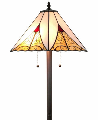 63 Inches High Tiffany Style Mission Floor Lamp - Tiffany Style Floor Lamps | Stained Glass Floor Lamps | tiffany floor lamps | modern floor lamps | contemporary floor lamps | floor standing lamps | unusual floor lamps |  designer floor lamps | crystal floor lamp | living room floor lamps | SignatureThings.com
