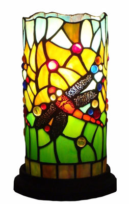 Dragonfly Tiffany Style Mini Table Lamp Signaturethings Com