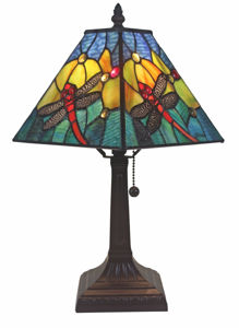 Dragonfly Tiffany Style Table Lamp - Tiffany Style Table Lamps | Stained Glass Table Lamps | Tiffany Table Lamps | Decorative Table Lamps | tiffany table lamps | Stained Glass Table Lamps | table lamps for living room | Reading Table Lamps | crystal table lamps | tiffany style lamp shades | SignatureThings.com