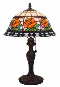 Floral Design 19 Inch Tiffany Style  Table Lamp - Tiffany Style Table Lamps | Stained Glass Table Lamps | Tiffany Table Lamps | Decorative Table Lamps | tiffany table lamps | Stained Glass Table Lamps | table lamps for living room | Reading Table Lamps | crystal table lamps | tiffany style lamp shades | SignatureThings.com