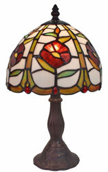 Floral Mini Table Lamp Tiffany Style 14.5-inch