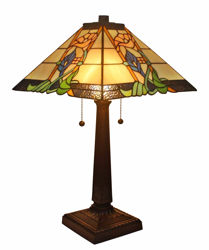 Lamp 23 Inches Tiffany Style Mission Table