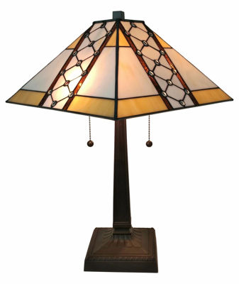Mission Table Tiffany Style Lamp 21 In High