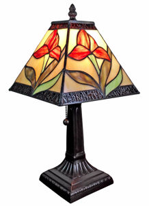 Tiffany Style 14.5-inch Floral Mini Table Lamp - Tiffany Style Table Lamps | Stained Glass Table Lamps | Tiffany Table Lamps | Decorative Table Lamps | tiffany table lamps | Stained Glass Table Lamps | table lamps for living room | Reading Table Lamps | crystal table lamps | tiffany style lamp shades | SignatureThings.com