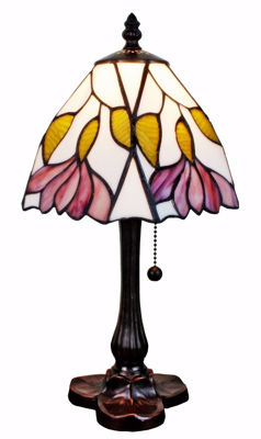 Tiffany Style 15.5-inch Floral Mini Table Lamp - Tiffany Style Table Lamps | Stained Glass Table Lamps | Tiffany Table Lamps | Decorative Table Lamps | tiffany table lamps | Stained Glass Table Lamps | table lamps for living room | Reading Table Lamps | crystal table lamps | tiffany style lamp shades | SignatureThings.com