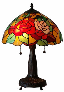 Tiffany Style 20-inch Floral Table Lamp - Tiffany Style Table Lamps | Stained Glass Table Lamps | Tiffany Table Lamps | Decorative Table Lamps | tiffany table lamps | Stained Glass Table Lamps | table lamps for living room | Reading Table Lamps | crystal table lamps | tiffany style lamp shades | SignatureThings.com
