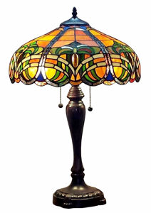 Tiffany Style 2-light 25-inch Baroque Table Lamp - Tiffany Style Table Lamps | Stained Glass Table Lamps | Tiffany Table Lamps | Decorative Table Lamps | tiffany table lamps | Stained Glass Table Lamps | table lamps for living room | Reading Table Lamps | crystal table lamps | tiffany style lamp shades | SignatureThings.com