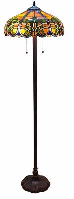 Tiffany Style 2-light Baroque Floor Lamp - Tiffany Style Floor Lamps | Stained Glass Floor Lamps | tiffany floor lamps | modern floor lamps | contemporary floor lamps | floor standing lamps | unusual floor lamps |  designer floor lamps | crystal floor lamp | living room floor lamps | SignatureThings.com