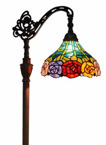 Tiffany Style 62-inch Roses Reading Floor Lamp - Tiffany Style Floor Lamps | Stained Glass Floor Lamps | tiffany floor lamps | modern floor lamps | contemporary floor lamps | floor standing lamps | unusual floor lamps |  designer floor lamps | crystal floor lamp | living room floor lamps | SignatureThings.com