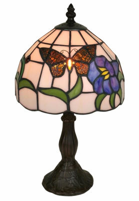 SignatureThings.com Brass Hardware Tiffany Style Butterfly Table Lamp 15 Inches Tall