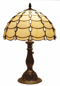 Tiffany Style Cascade Table Lamp 19 In - Tiffany Style Table Lamps | Stained Glass Table Lamps | Tiffany Table Lamps | Decorative Table Lamps | tiffany table lamps | Stained Glass Table Lamps | table lamps for living room | Reading Table Lamps | crystal table lamps | tiffany style lamp shades | SignatureThings.com