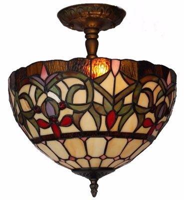 Tiffany Style Ceiling Lamp - Tiffany Style Ceiling Lamps | Stained Glass Ceiling Lamps | tiffany ceiling lamps | ceiling lights | living room ceiling lights | bedroom ceiling lights lamps | antique tiffany chandelier | Decorative Ceiling Lamps | SignatureThings.com