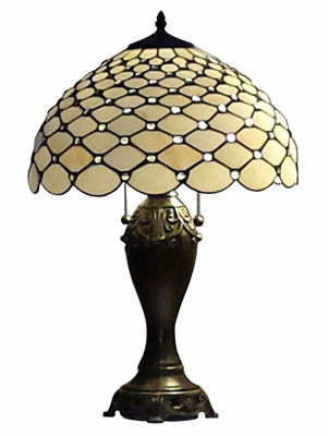 Tiffany Style Chandelle Table Lamp 25 Inches - Tiffany Style Table Lamps | Stained Glass Table Lamps | Tiffany Table Lamps | Decorative Table Lamps | tiffany table lamps | Stained Glass Table Lamps | table lamps for living room | Reading Table Lamps | crystal table lamps | tiffany style lamp shades | SignatureThings.com