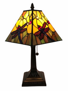 Tiffany Style Dragonfly Table Lamp - Tiffany Style Table Lamps | Stained Glass Table Lamps | Tiffany Table Lamps | Decorative Table Lamps | tiffany table lamps | Stained Glass Table Lamps | table lamps for living room | Reading Table Lamps | crystal table lamps | tiffany style lamp shades | SignatureThings.com