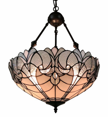 "Tiffany Style Floral Hanging Lamp 18"" Diameter"