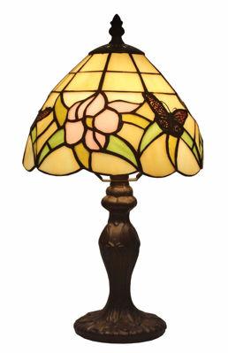 Tiffany Style Floral Mini Table Lamp 15 In - Tiffany Style Table Lamps | Stained Glass Table Lamps | Tiffany Table Lamps | Decorative Table Lamps | tiffany table lamps | Stained Glass Table Lamps | table lamps for living room | Reading Table Lamps | crystal table lamps | tiffany style lamp shades | SignatureThings.com