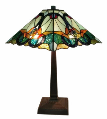 Tiffany Style Floral Mission Table Lamp 23 In High - Tiffany Style Table Lamps | Stained Glass Table Lamps | Tiffany Table Lamps | Decorative Table Lamps | tiffany table lamps | Stained Glass Table Lamps | table lamps for living room | Reading Table Lamps | crystal table lamps | tiffany style lamp shades | SignatureThings.com