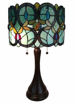 Tiffany Style Floral Table Lamp - Tiffany Style Table Lamps | Stained Glass Table Lamps | Tiffany Table Lamps | Decorative Table Lamps | tiffany table lamps | Stained Glass Table Lamps | table lamps for living room | Reading Table Lamps | crystal table lamps | tiffany style lamp shades | SignatureThings.com