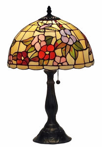 Tiffany Style Floral Table Lamp 19 In - Tiffany Style Table Lamps | Stained Glass Table Lamps | Tiffany Table Lamps | Decorative Table Lamps | tiffany table lamps | Stained Glass Table Lamps | table lamps for living room | Reading Table Lamps | crystal table lamps | tiffany style lamp shades | SignatureThings.com