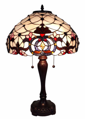 Tiffany Style Floral Table Lamp 24 Inch, Multi