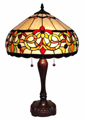 Tiffany Style Floral Table Lamp 24 Inches Tall - Tiffany Style Table Lamps | Stained Glass Table Lamps | Tiffany Table Lamps | Decorative Table Lamps | tiffany table lamps | Stained Glass Table Lamps | table lamps for living room | Reading Table Lamps | crystal table lamps | tiffany style lamp shades | SignatureThings.com