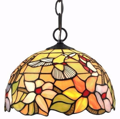 SignatureThings.com Brass Hardware Tiffany Style Hummingbird 1-light Pendant Lamp