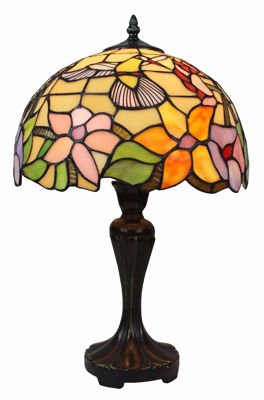 SignatureThings.com Brass Hardware Tiffany Style Hummingbird Design 19-inch Table Lamp