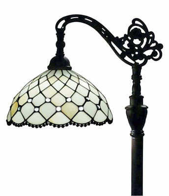 SignatureThings.com Brass Hardware Tiffany Style Jewel Reading Lamp 62 In