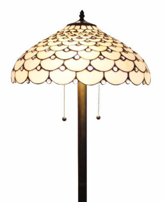 Tiffany Style Jeweled Floor Lamp, 18-inch - Tiffany Style Floor Lamps | Stained Glass Floor Lamps | tiffany floor lamps | modern floor lamps | contemporary floor lamps | floor standing lamps | unusual floor lamps |  designer floor lamps | crystal floor lamp | living room floor lamps | SignatureThings.com