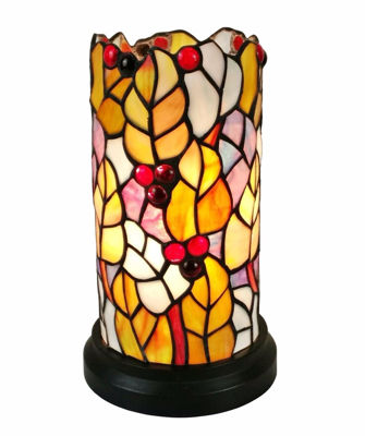 Tiffany Style Leaves And Berries Accent Table Lamp - Tiffany Style Table Lamps | Stained Glass Table Lamps | Tiffany Table Lamps | Decorative Table Lamps | tiffany table lamps | Stained Glass Table Lamps | table lamps for living room | Reading Table Lamps | crystal table lamps | tiffany style lamp shades | SignatureThings.com