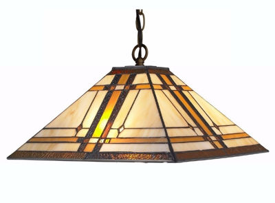 Tiffany Style Mission 2-light Hanging Lamp - Tiffany Style Ceiling Lamps | Stained Glass Ceiling Lamps | tiffany ceiling lamps | ceiling lights | living room ceiling lights | bedroom ceiling lights lamps | antique tiffany chandelier | Decorative Ceiling Lamps | SignatureThings.com