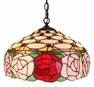 Tiffany Style Roses 366-piece Hanging Lamp 2 Light - Tiffany Style Ceiling Lamps | Stained Glass Ceiling Lamps | tiffany ceiling lamps | ceiling lights | living room ceiling lights | bedroom ceiling lights lamps | antique tiffany chandelier | Decorative Ceiling Lamps | SignatureThings.com
