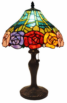 Tiffany Style Roses Table Lamp 19 In - Tiffany Style Table Lamps | Stained Glass Table Lamps | Tiffany Table Lamps | Decorative Table Lamps | tiffany table lamps | Stained Glass Table Lamps | table lamps for living room | Reading Table Lamps | crystal table lamps | tiffany style lamp shades | SignatureThings.com
