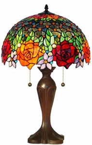 Tiffany Style Roses Table Lamp 23 In - Tiffany Style Table Lamps | Stained Glass Table Lamps | Tiffany Table Lamps | Decorative Table Lamps | tiffany table lamps | Stained Glass Table Lamps | table lamps for living room | Reading Table Lamps | crystal table lamps | tiffany style lamp shades | SignatureThings.com