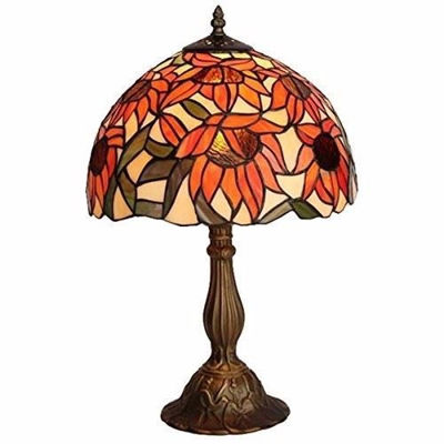 Tiffany Style Sunflower Table Lamp - Tiffany Style Table Lamps | Stained Glass Table Lamps | Tiffany Table Lamps | Decorative Table Lamps | tiffany table lamps | Stained Glass Table Lamps | table lamps for living room | Reading Table Lamps | crystal table lamps | tiffany style lamp shades | SignatureThings.com