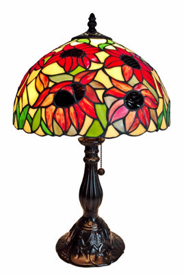 Tiffany Style Sunflower Table Lamp 19 Inches High - Tiffany Style Table Lamps | Stained Glass Table Lamps | Tiffany Table Lamps | Decorative Table Lamps | tiffany table lamps | Stained Glass Table Lamps | table lamps for living room | Reading Table Lamps | crystal table lamps | tiffany style lamp shades | SignatureThings.com