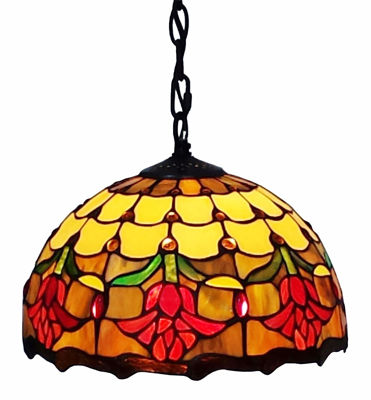 Tiffany Style Tulips Hanging Lamp - Tiffany Style Ceiling Lamps | Stained Glass Ceiling Lamps | tiffany ceiling lamps | ceiling lights | living room ceiling lights | bedroom ceiling lights lamps | antique tiffany chandelier | Decorative Ceiling Lamps | SignatureThings.com