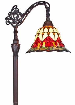 SignatureThings.com Brass Hardware Tiffany Style Tulips Reading Floor Lamp 62 In