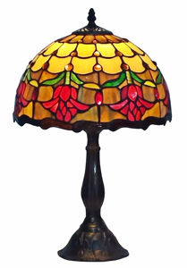 Tiffany Style Tulips Table Lamp 19 Inches Tall - Tiffany Style Table Lamps | Stained Glass Table Lamps | Tiffany Table Lamps | Decorative Table Lamps | tiffany table lamps | Stained Glass Table Lamps | table lamps for living room | Reading Table Lamps | crystal table lamps | tiffany style lamp shades | SignatureThings.com