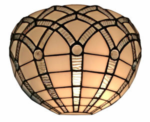 Tiffany Style White Wall Sconce Lamp 12 In Wide