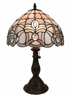 Tiffany-style Floral Design Table Lamp - Tiffany Style Table Lamps | Stained Glass Table Lamps | Tiffany Table Lamps | Decorative Table Lamps | tiffany table lamps | Stained Glass Table Lamps | table lamps for living room | Reading Table Lamps | crystal table lamps | tiffany style lamp shades | SignatureThings.com