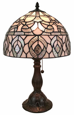 Tiffany-style Peacock Design Table Lamp - Tiffany Style Table Lamps | Stained Glass Table Lamps | Tiffany Table Lamps | Decorative Table Lamps | tiffany table lamps | Stained Glass Table Lamps | table lamps for living room | Reading Table Lamps | crystal table lamps | tiffany style lamp shades | SignatureThings.com