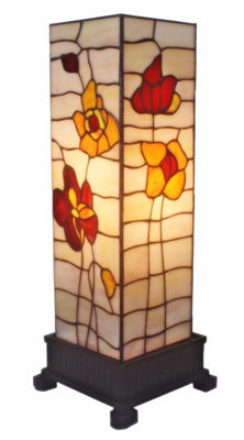 Tiffany-style Poppies Table Lamp 18 In - Tiffany Style Table Lamps | Stained Glass Table Lamps | Tiffany Table Lamps | Decorative Table Lamps | tiffany table lamps | Stained Glass Table Lamps | table lamps for living room | Reading Table Lamps | crystal table lamps | tiffany style lamp shades | SignatureThings.com