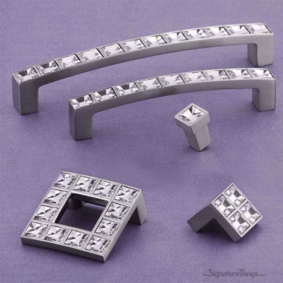 Clear Square Swarovski Pulls | Crystal Cabinet Hardware | Crystal Cabinet Knob | decorative cabinet knobs | Glass Drawer Knobs | Cabinet Pulls and Knobs |  Glass Cabinet Knob | SignatureThings.com