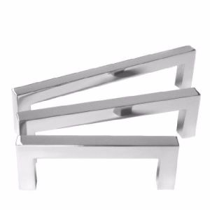 Polished stainless steel Square Bar Cabinet Pull - 12 MM Drawer Handle