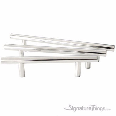 SignatureThings.com Brass Hardware Polished Stainless Steel Bar Pull 12 MM