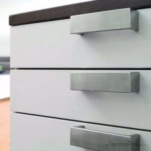 Stainless Steel Brushed Square Bar D Pull - Dresser Drawer Handle